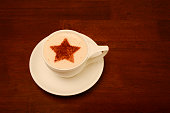 Froth Art with a star