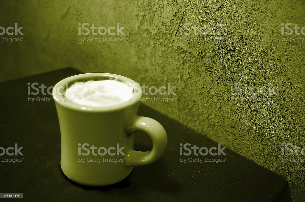 Frothy coffee royalty-free stock photo