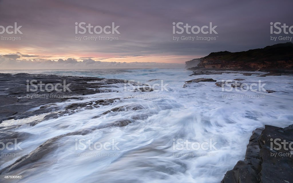 Frothy flows at Yena Australia stock photo