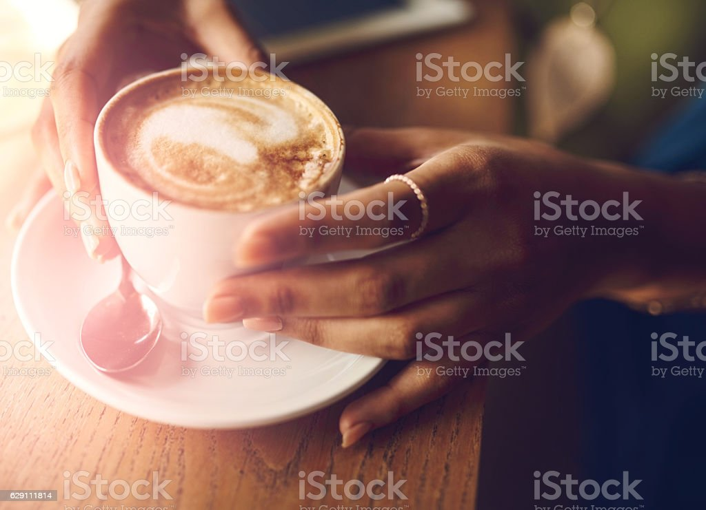 Frothy goodness stock photo