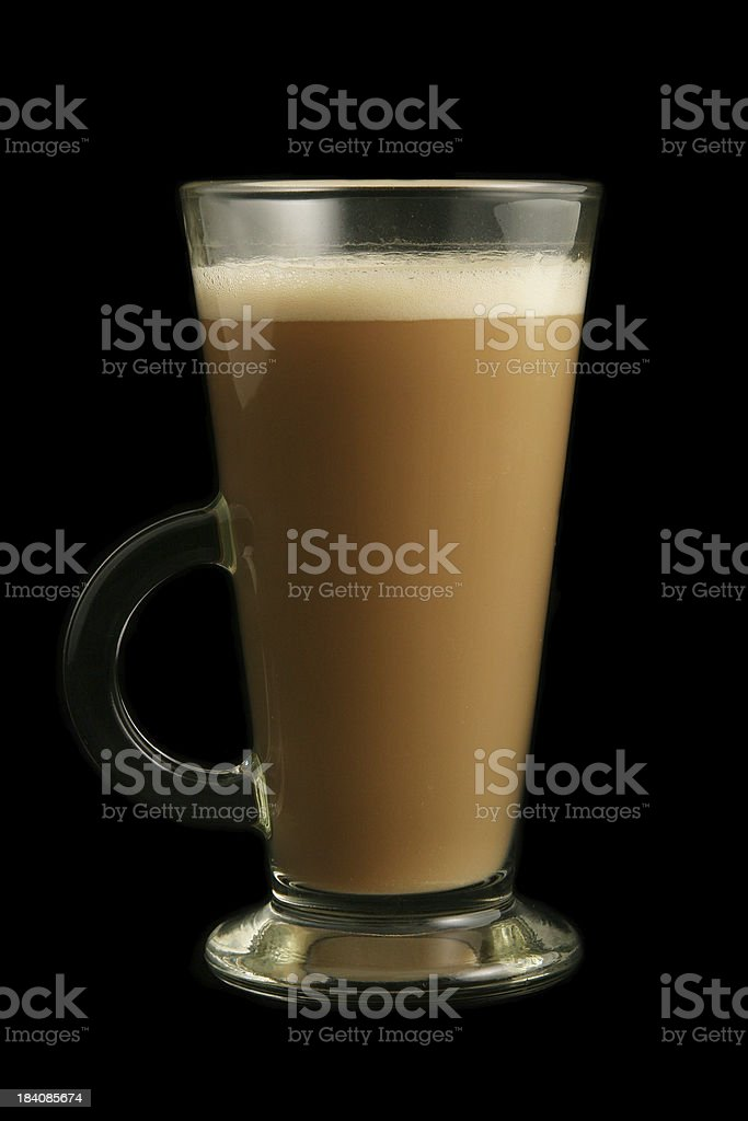 frothy latte royalty-free stock photo
