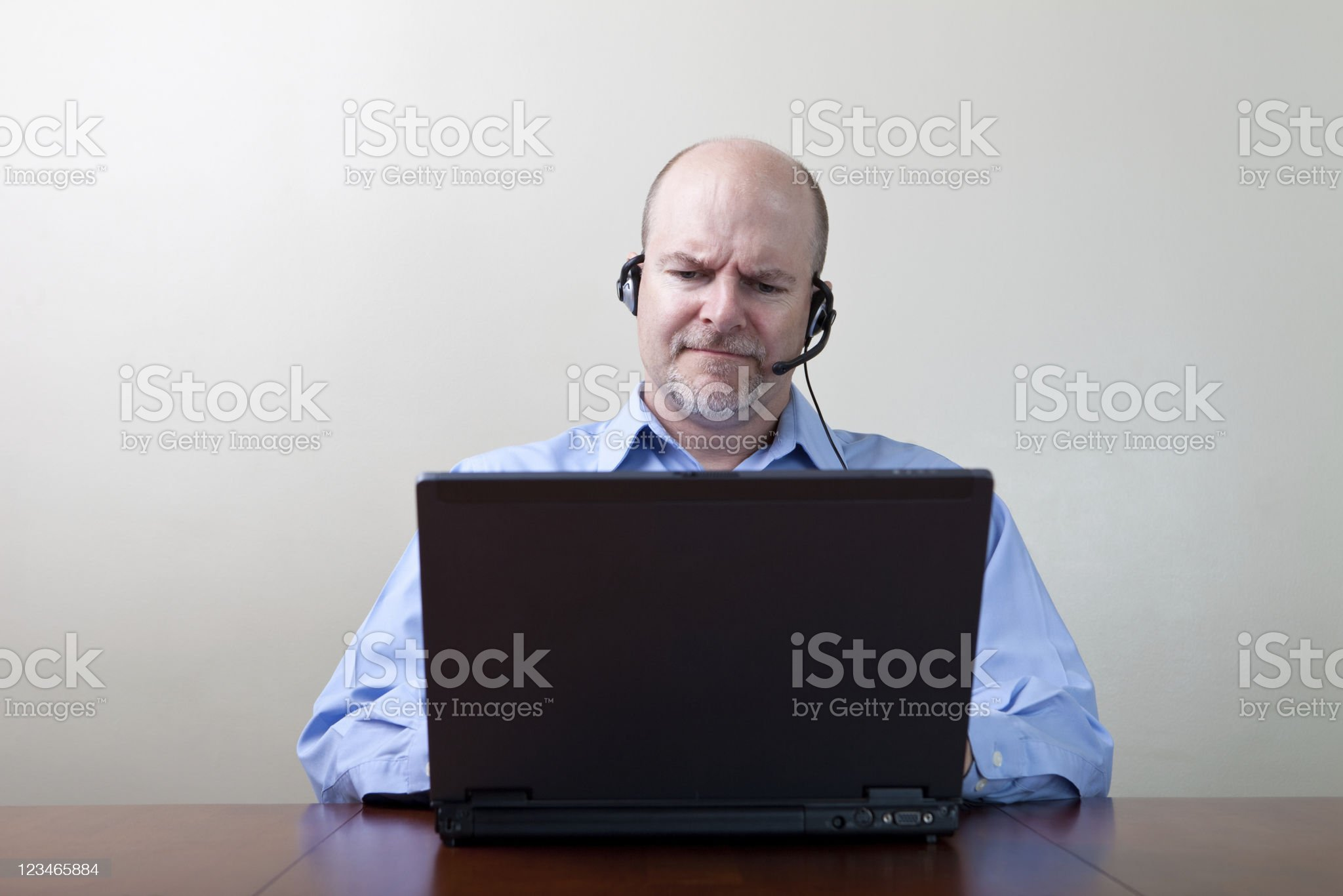Frowning Businessman royalty-free stock photo