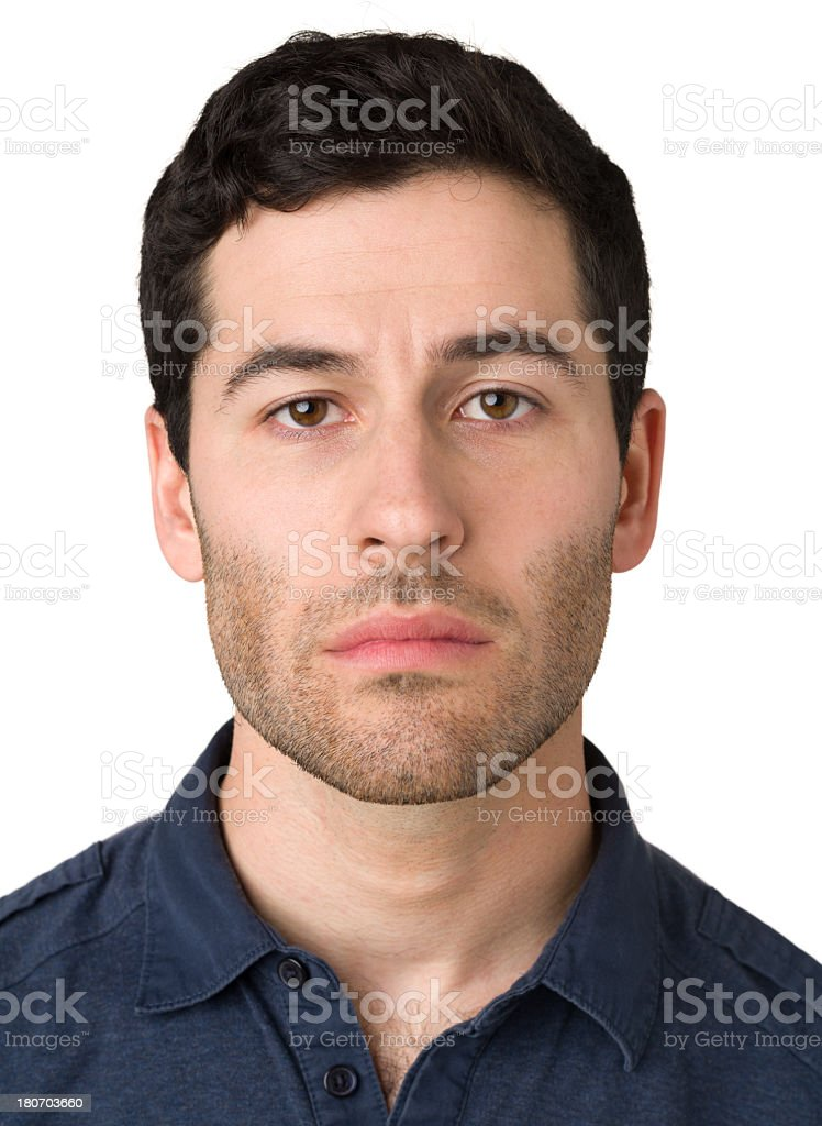 Frowning Young Man royalty-free stock photo