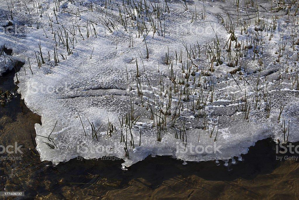 が凍ったランネル、氷と雪ます。 ロイヤリティフリーストックフォト