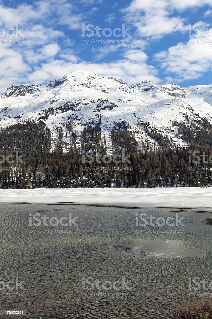frozen alpine lake royalty-free stock photo