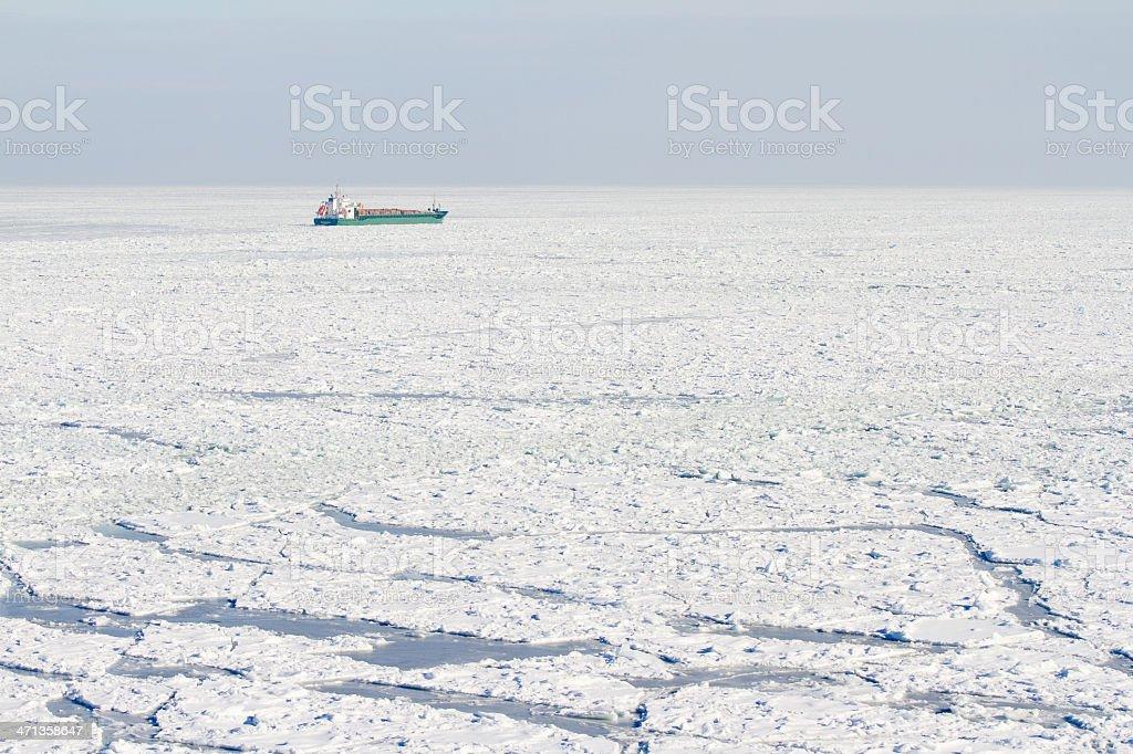 Frozen Baltic Sea stock photo