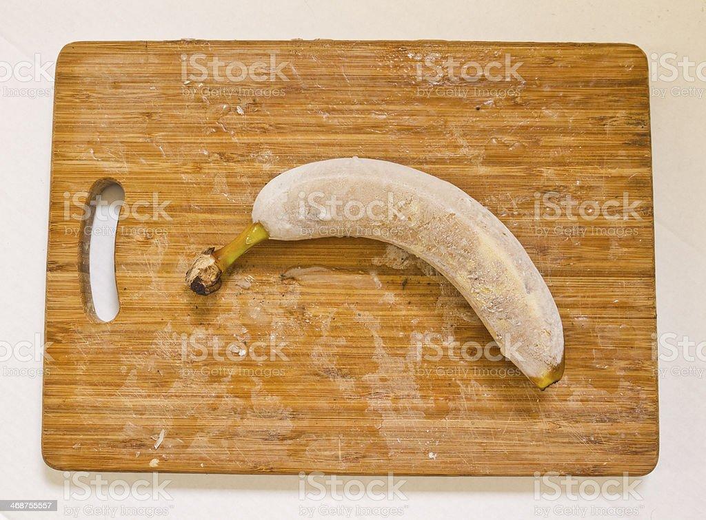 Frozen Banana stock photo