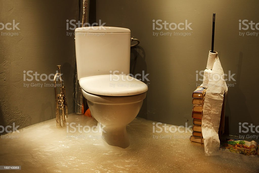 Frozen bathroom stock photo