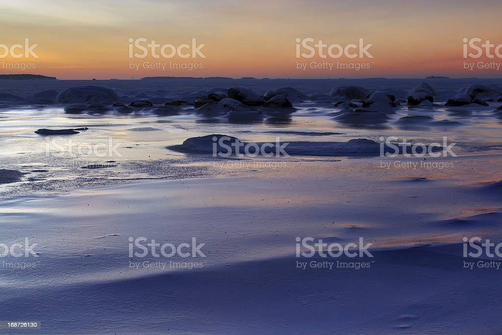 Frozen beach landscape royalty-free stock photo