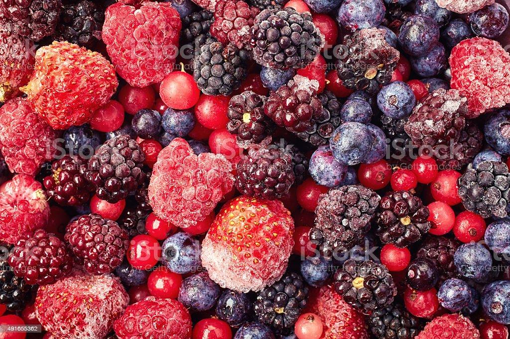 Frozen berries stock photo