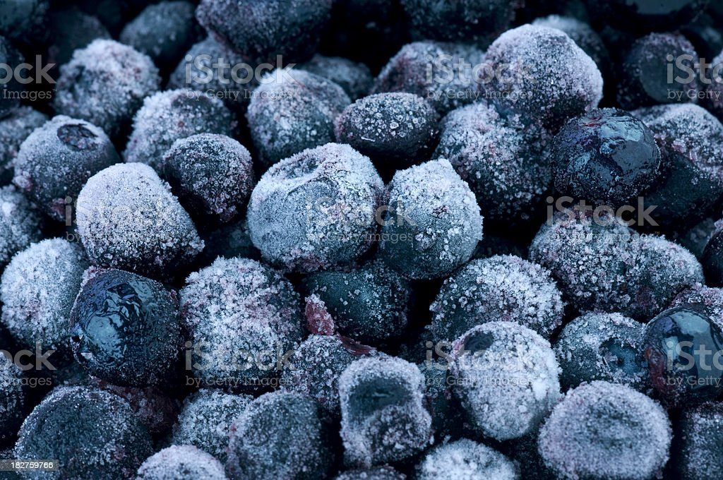 Frozen blueberries stock photo