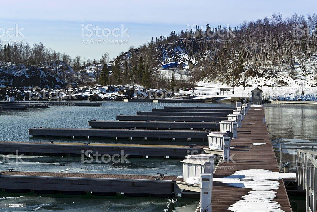 Frozen Boat Slips royalty-free stock photo