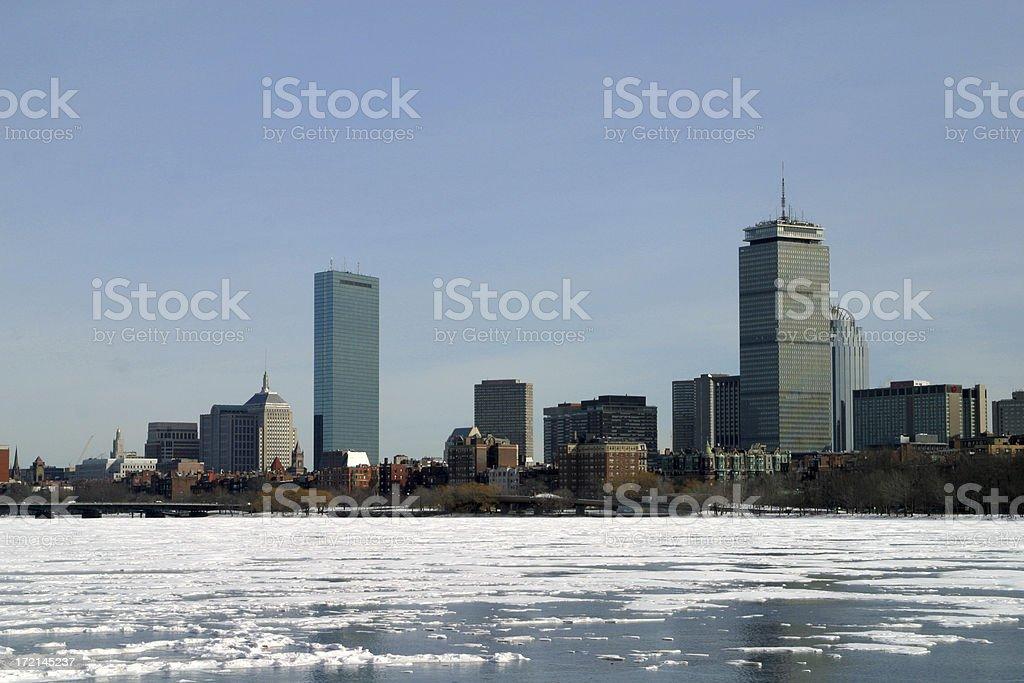 Frozen Boston royalty-free stock photo