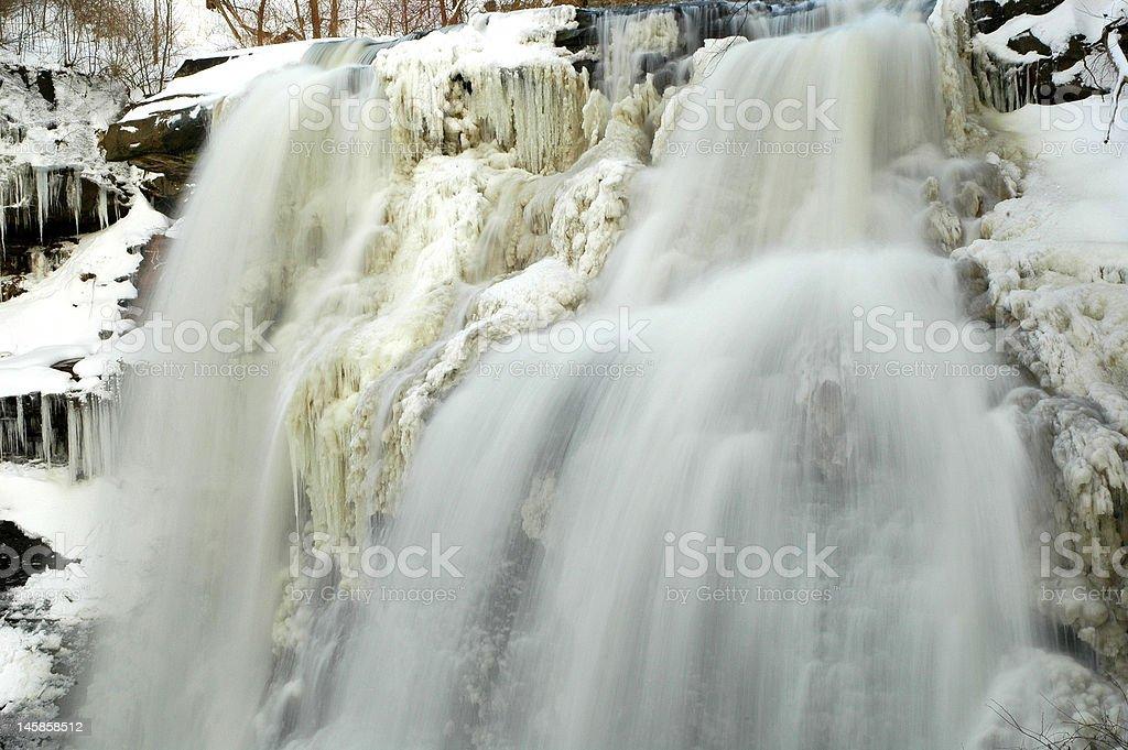 Frozen Brandywine Waterfalls stock photo