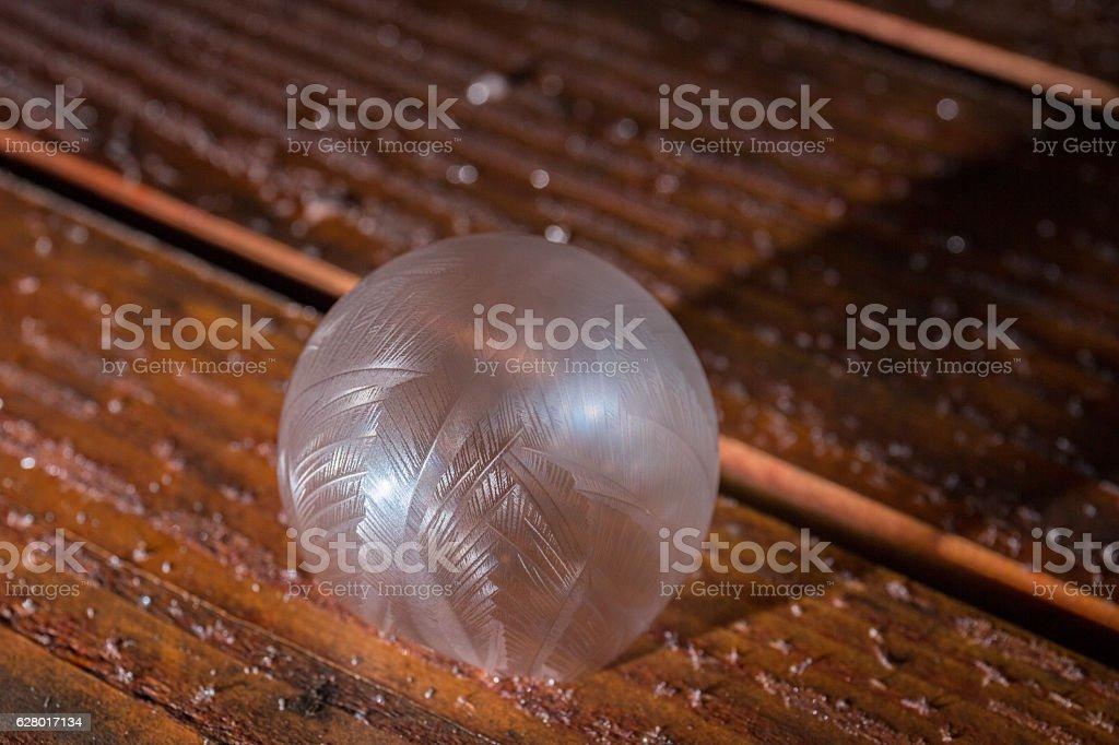 Frozen Bubble stock photo