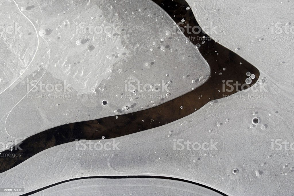 frozen bubbles and ice patterns stock photo