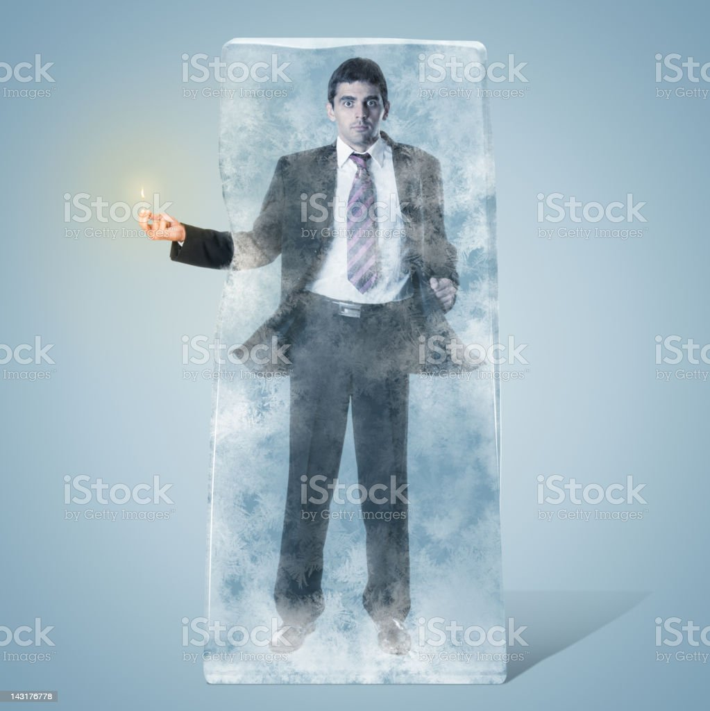 Frozen Businessman stock photo