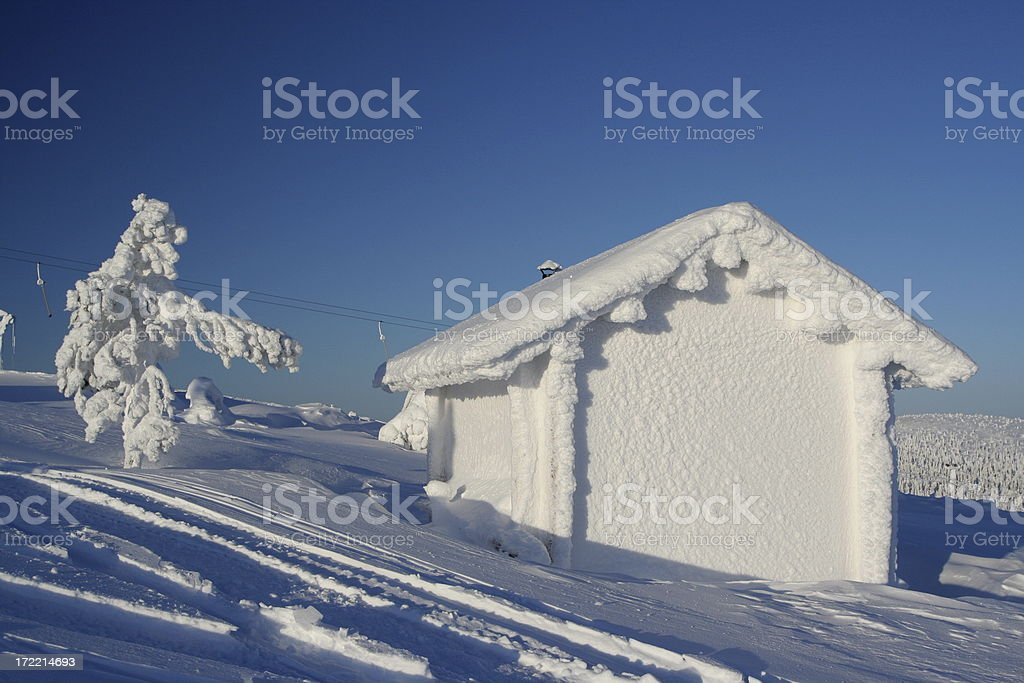 Frozen cabin royalty-free stock photo