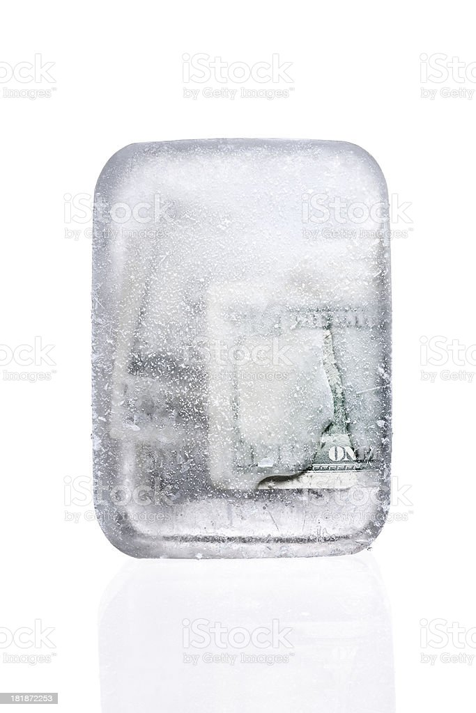 Frozen Capital.Color Image royalty-free stock photo