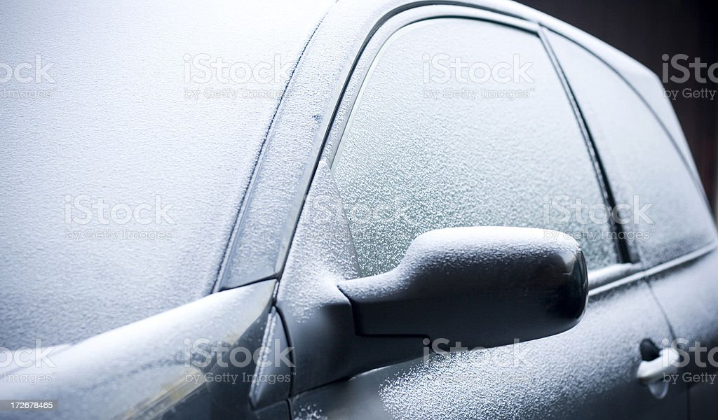 Frozen car royalty-free stock photo