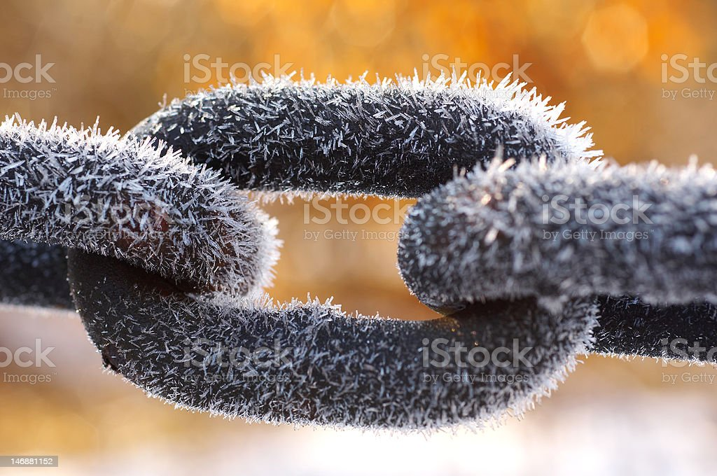 Frozen chain royalty-free stock photo