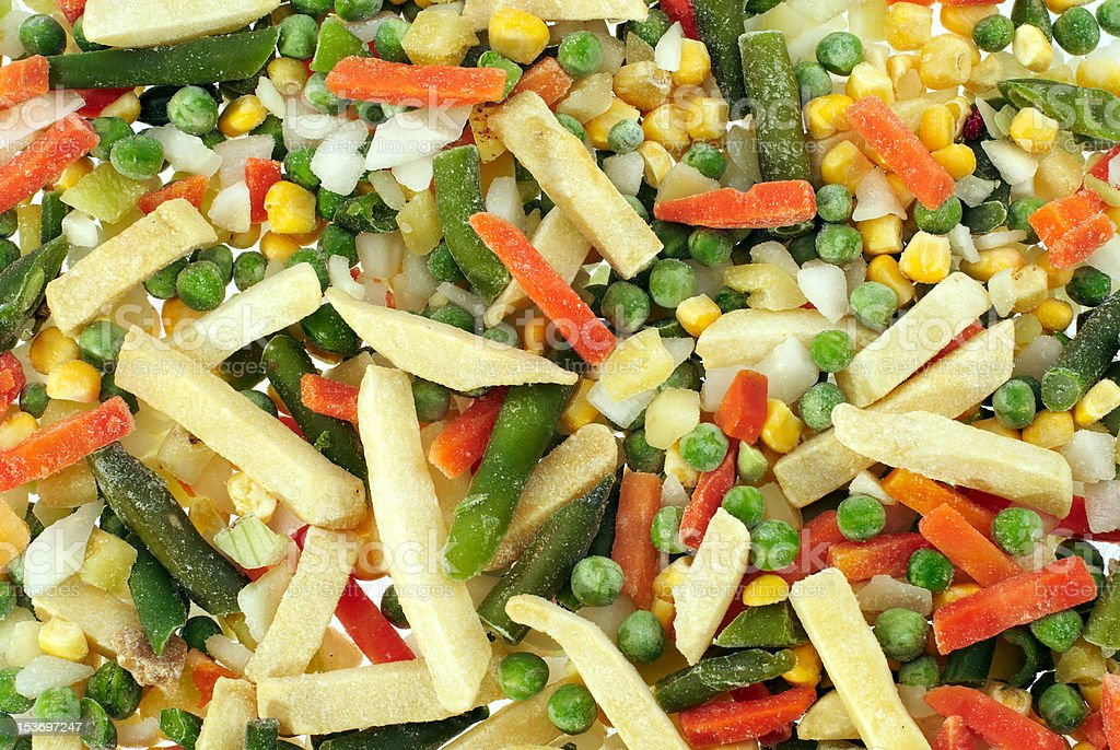 frozen chopped vegetables royalty-free stock photo