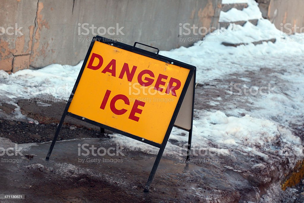Frozen Danger royalty-free stock photo