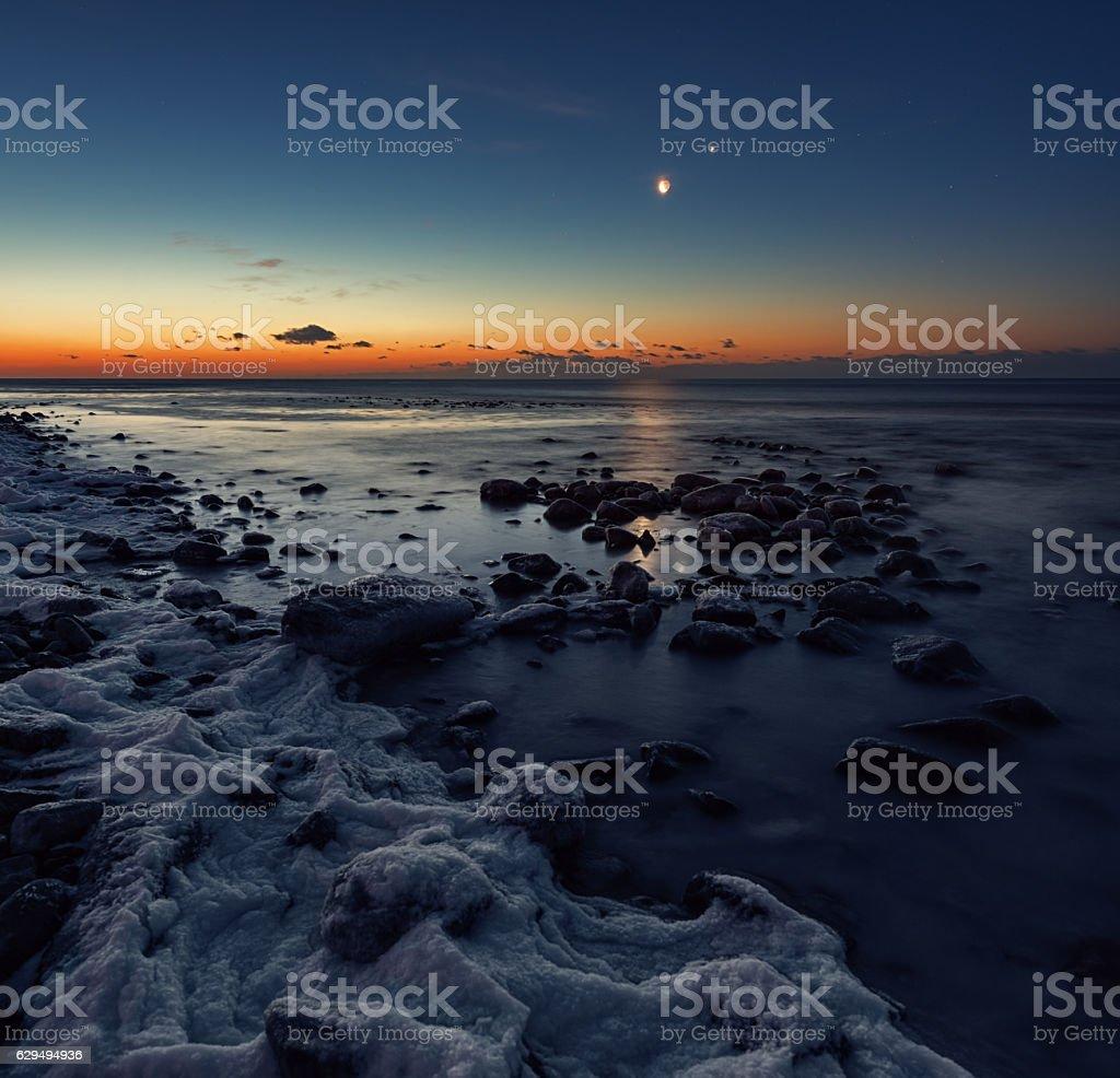 Frozen Dawn stock photo
