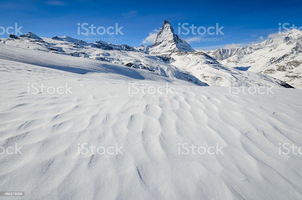 Frozen desert stock photo