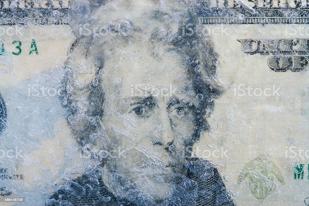 Frozen Dollars stock photo