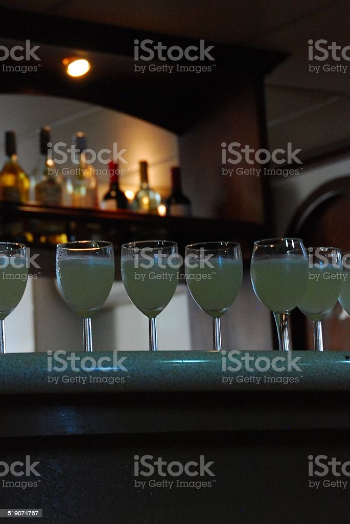Frozen Drinks Lined Up royalty-free stock photo