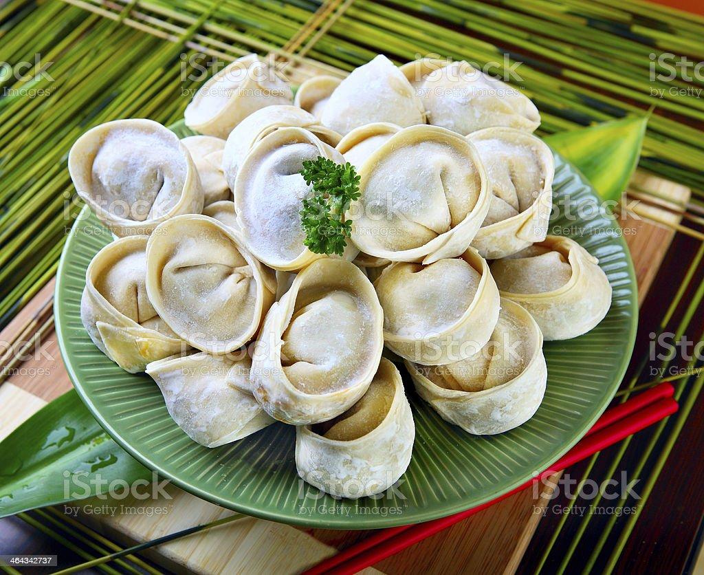 Frozen Dumpling stock photo
