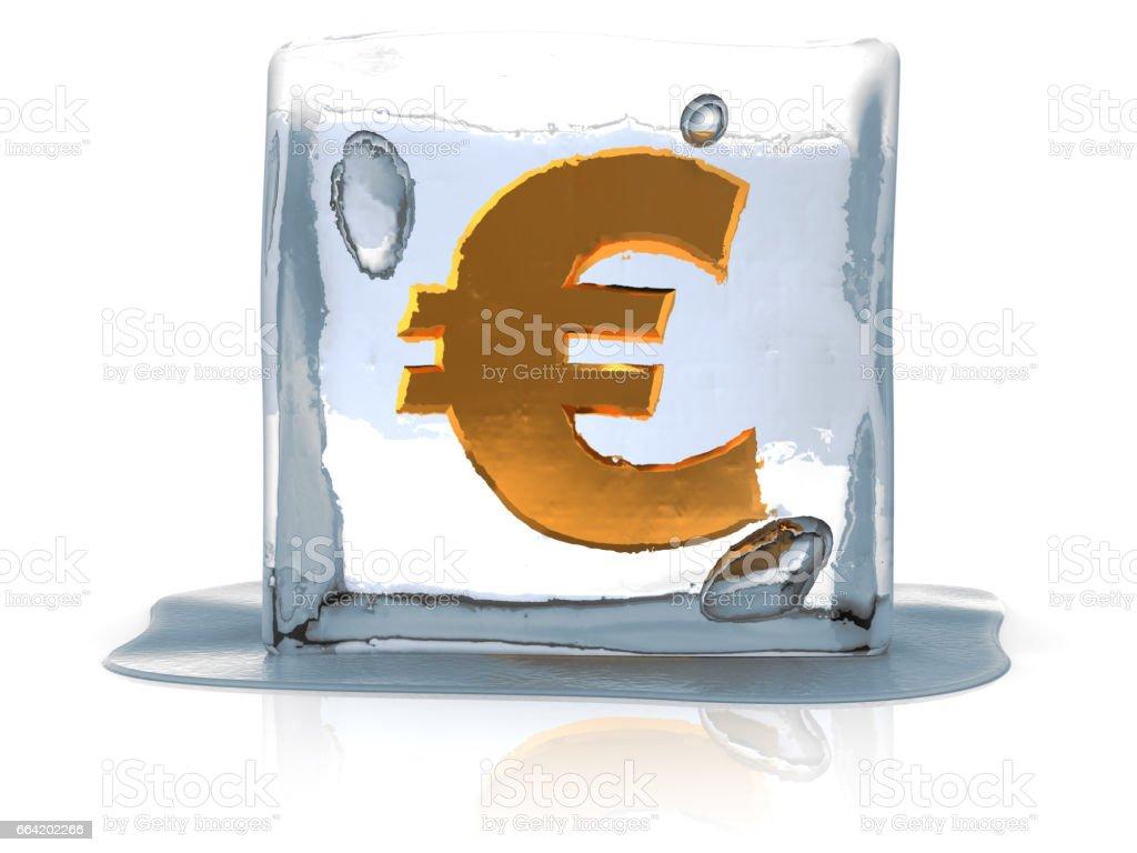 frozen euro stock photo