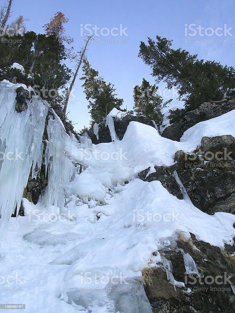 frozen falls chute royalty-free stock photo