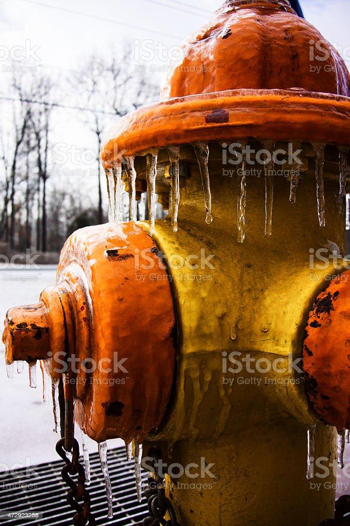 Congelato Idrante foto stock royalty-free