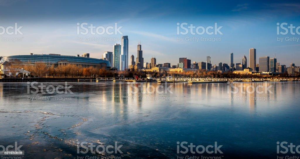 Frozen Flotsam Chicago stock photo