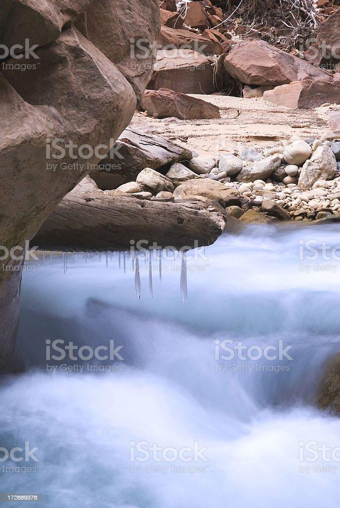 Frozen flow royalty-free stock photo