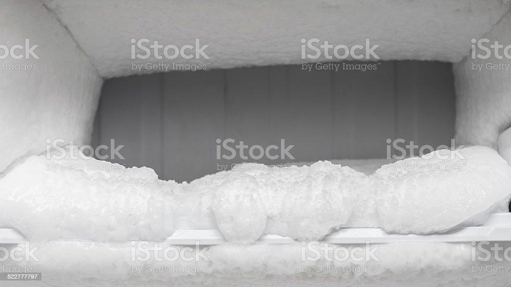 frozen freezer stock photo