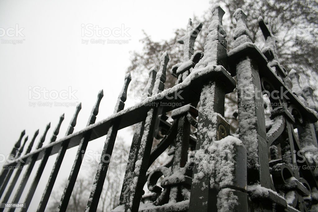 Frozen Gate stock photo