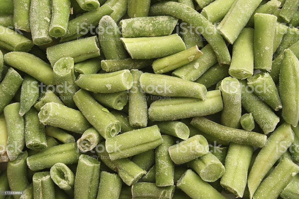 Frozen green beans royalty-free stock photo