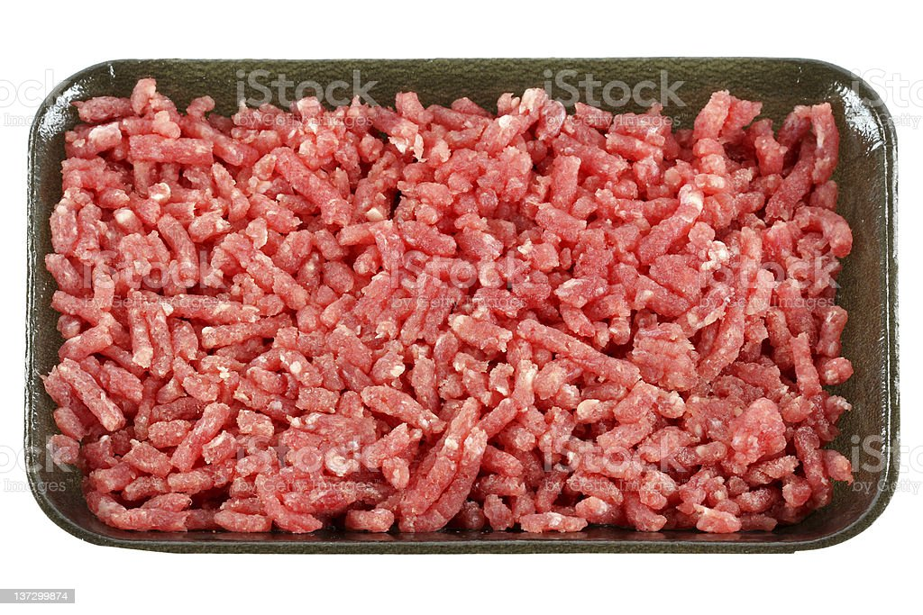 Frozen Ground lean beef royalty-free stock photo