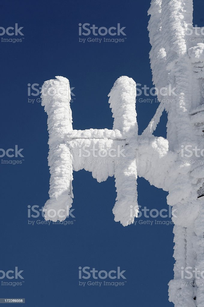 frozen H stock photo