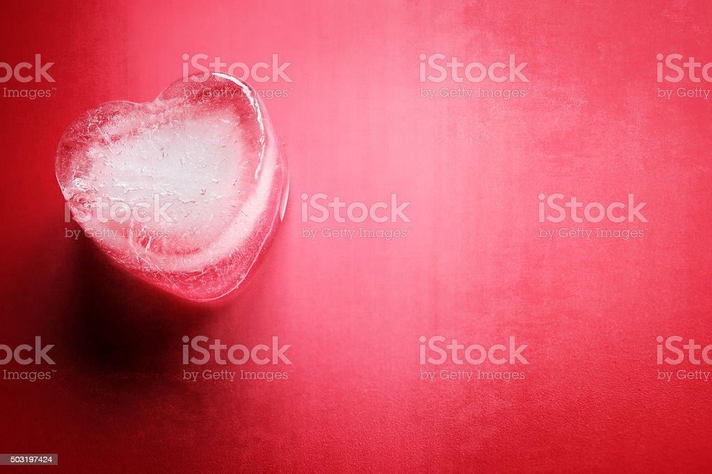 Frozen heart background stock photo