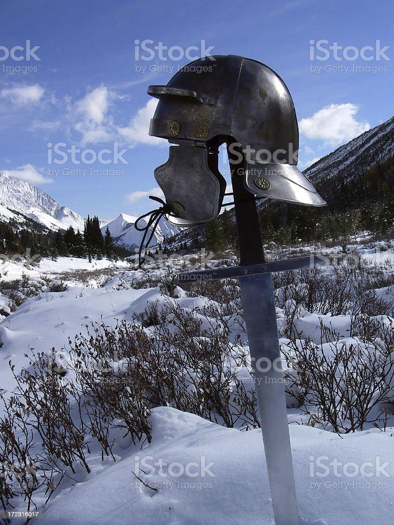 Frozen Helmet stock photo