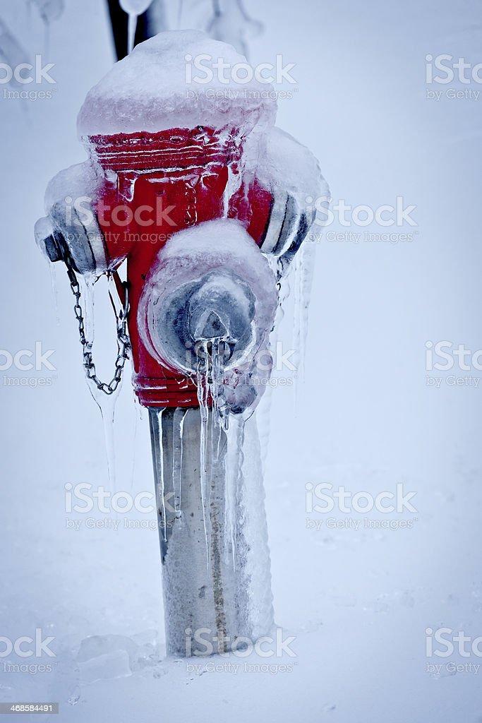 Frozen Hydrant royalty-free stock photo