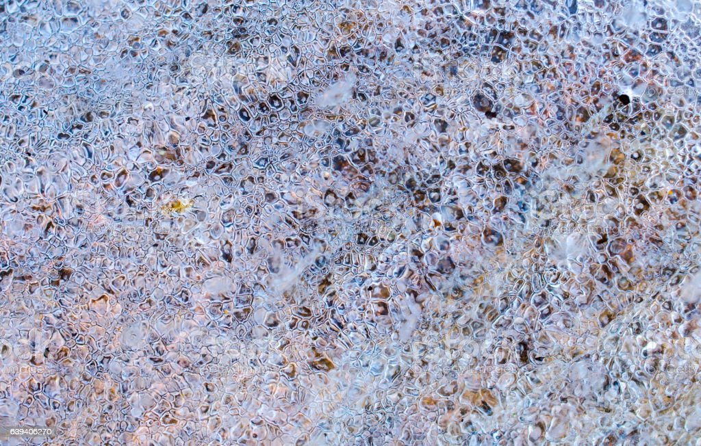 Frozen ice crystals, abstract background stock photo