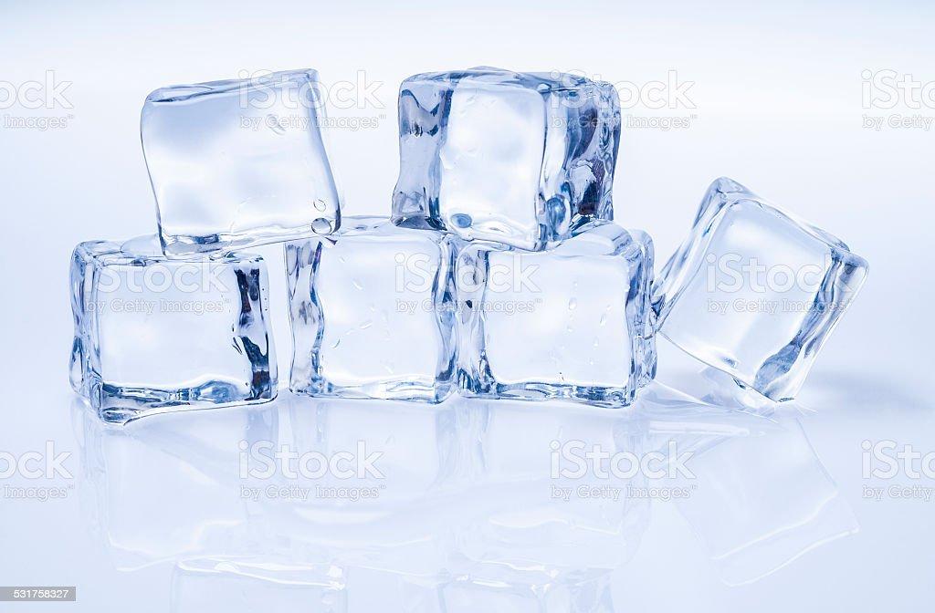 Frozen ice cubes isolated stock photo
