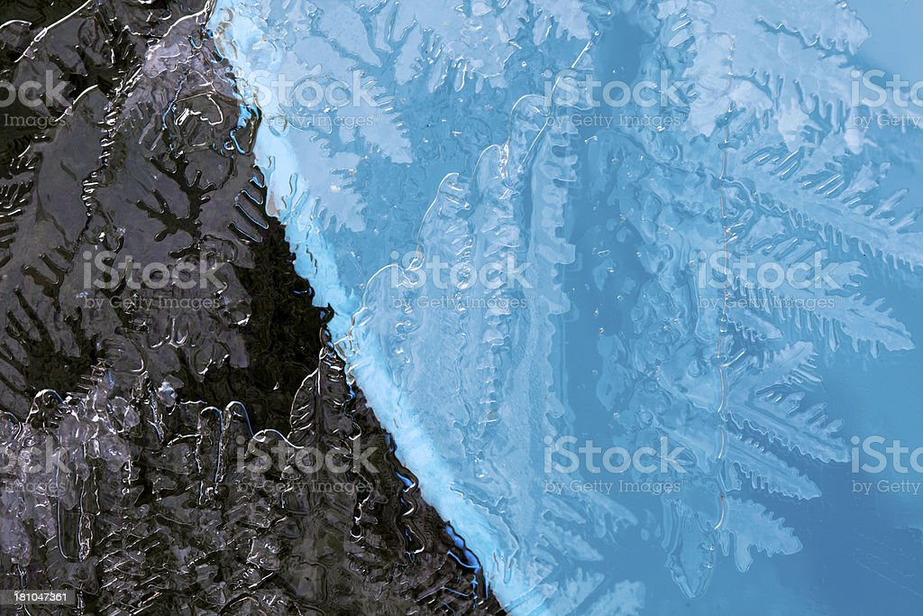 Frozen Ice patterns. royalty-free stock photo