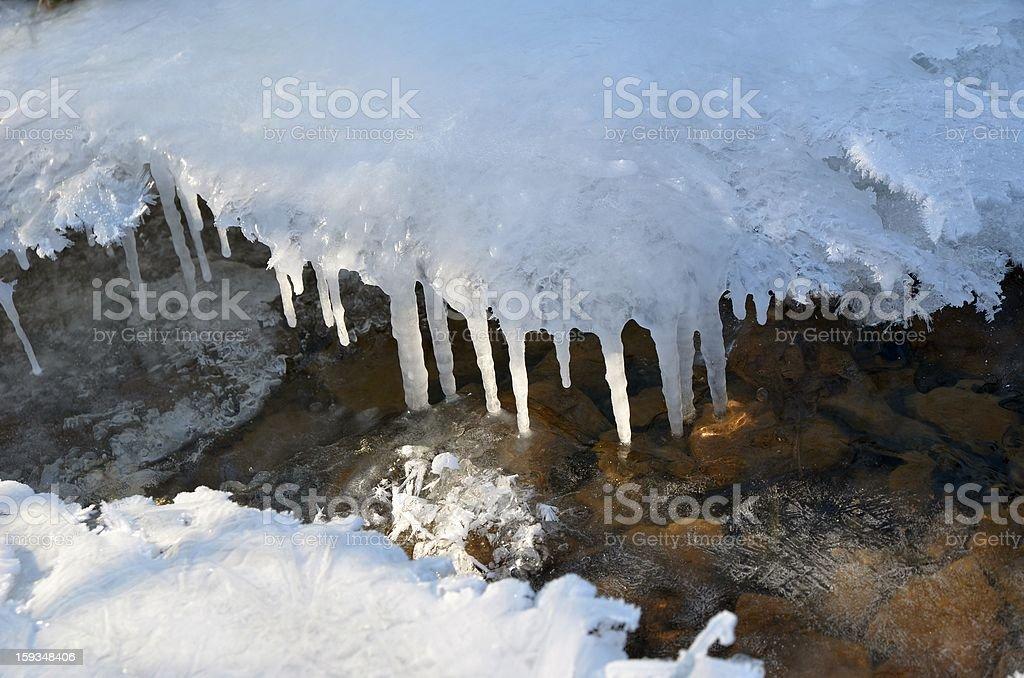 Frozen ice stream royalty-free stock photo