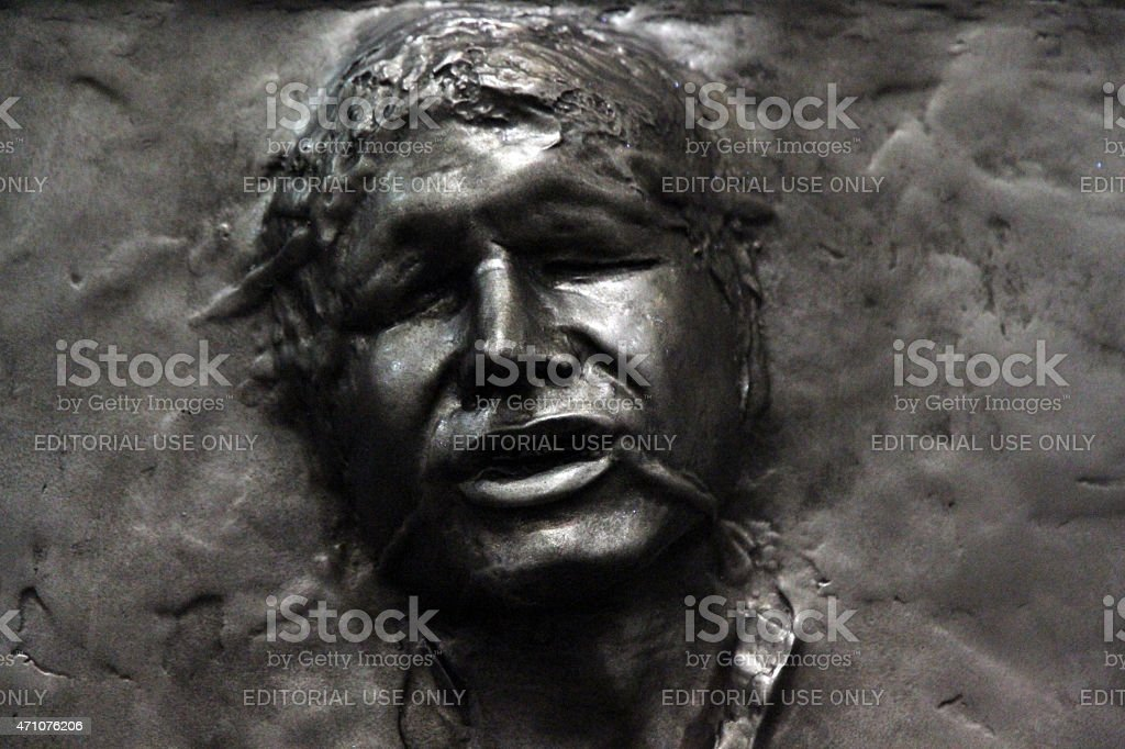Frozen in Carbonite stock photo
